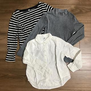 ユニクロ(UNIQLO)のUNIQLOキッズ130cm 3点セット(Tシャツ/カットソー)
