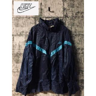 NIKE - 【80s 90s 】グレータグ 銀タグ NIKE ナイキ ナイロンジャケット 青