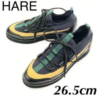 ハレ(HARE)のK319新品HAREマルチカラースニーカー26.5㌢♂(スニーカー)