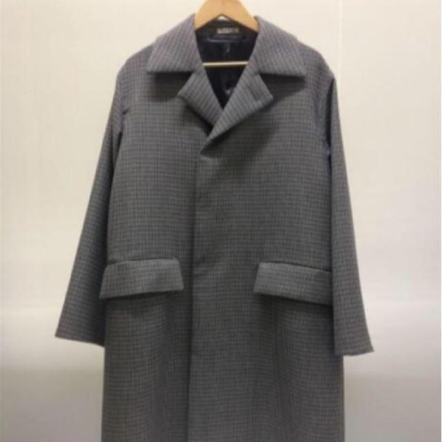 COMOLI(コモリ)のAURALEE チェックコート19aw メンズのジャケット/アウター(ステンカラーコート)の商品写真