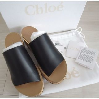 Chloe - 新品◆Chloe クロエ Camille カミーユ ウェッジ サンダル 37 黒
