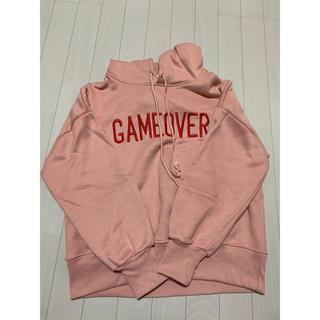 ミックスエックスミックス(mixxmix)のmixxmix ピンク トレーナー GAMEOVER(トレーナー/スウェット)