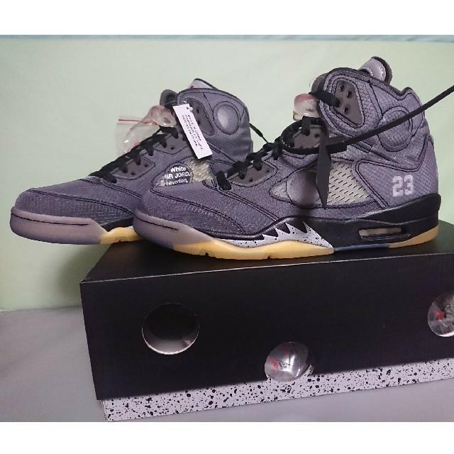 NIKE(ナイキ)のナイキ  ✖️  オフホワイト エアジョーダン5 26.5センチ メンズの靴/シューズ(スニーカー)の商品写真