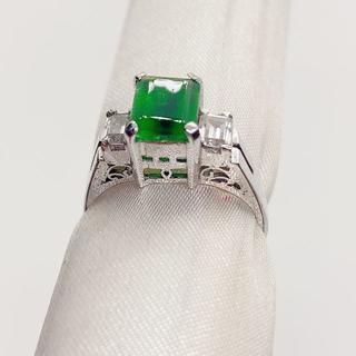 約14号 リング1[SILVER 925 スクエア緑石](リング(指輪))