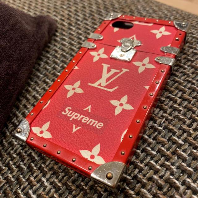 LOUIS VUITTON - 【早い者勝ち】ルイヴィトン iPhone7/8ケース Supreme コラボ 赤の通販