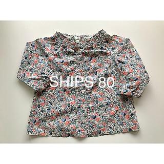 SHIPS - SHIPS 花柄ブラウス 80
