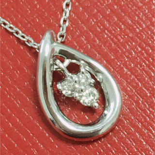 4℃ - 4°C k18wg ネックレス ペンダント ダイヤモンド 18金