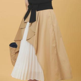 31 Sons de mode - バックプリーツデザインスカート
