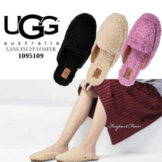 UGG - (新品)UGG☆w lane fluff loafer ブラック