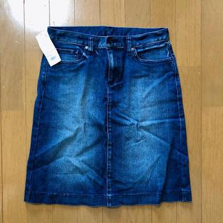 ユニクロ(UNIQLO)のデニムスカート 値下げ(ひざ丈スカート)