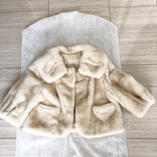FOXEY - 最終値下げ 美品 foxey  ミンク ジャケット 38 オフホワイト