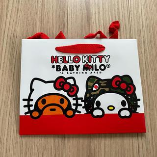 アベイシングエイプ(A BATHING APE)の新品HELLO KITTY& BABYMIROコラボ紙袋  5枚セット(ショップ袋)