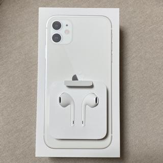 アイフォーン(iPhone)のiPhone11 純正 イヤホン(ヘッドフォン/イヤフォン)