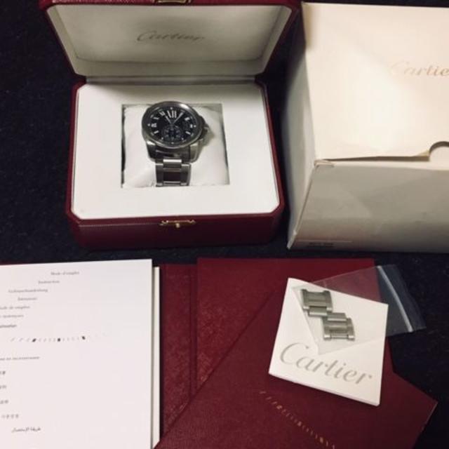 Cartier(カルティエ)の期間限定出品 Cartier カリブル ドゥ カルティエ 黒文字盤  メンズの時計(腕時計(アナログ))の商品写真