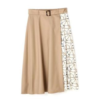 NATURAL BEAUTY BASIC - ナチュラルビューティーベーシック スカーフプリント切替スカート♡