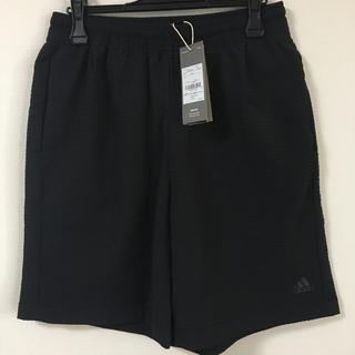 adidas - 【新品】adidas メンズ 上質 ハーフパンツ 黒 L 定価5489円