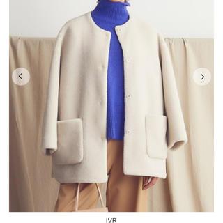 Mila Owen - 【新品タグ付き】ミラ オーウェン ノーカラーシャツカーブボアジャケット
