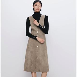 ZARA - ZARA レザー風ジャンパースカート