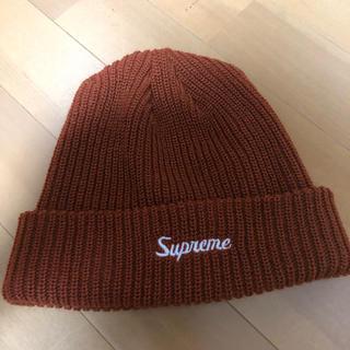 Supreme - supreme ビーニー  ブラウン ニット