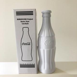 コカコーラ(コカ・コーラ)のバーガーキング コカコーラ  非売品 貯金箱 大 白 新品 フォンチューン(ノベルティグッズ)