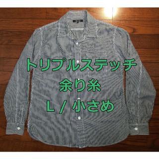 ユナイテッドアローズ(UNITED ARROWS)のアローズ トリプルステッチ 本格 ワークシャツ L / M ブラック(シャツ)