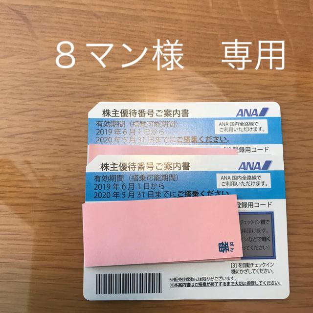 ANA(全日本空輸)(エーエヌエー(ゼンニッポンクウユ))のANA 株主優待 2枚 必ず発送いたします チケットの優待券/割引券(その他)の商品写真