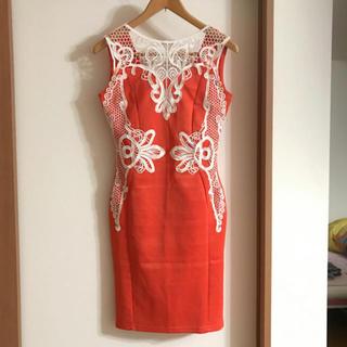 ♡ 超可愛い セクシー ワンピース ドレス エルメス オレンジ カラー ♡