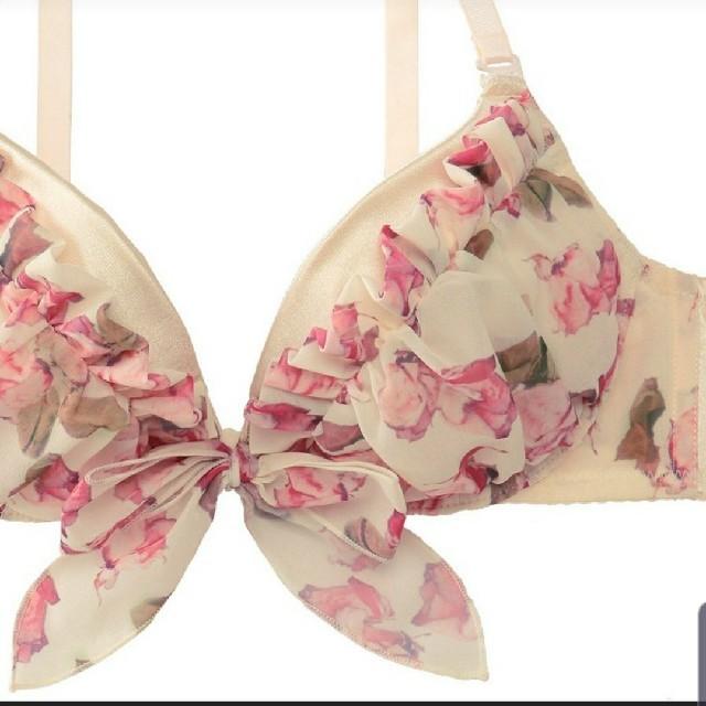 aimer feel(エメフィール)の送料無料 新品 E70 M エメフィール ブラジャー&ショーツセット リボンもあ レディースの下着/アンダーウェア(ブラ&ショーツセット)の商品写真