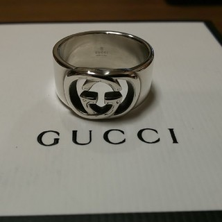 Gucci - GUCCI インター ロッキング ワイド リング 20号表記 19号