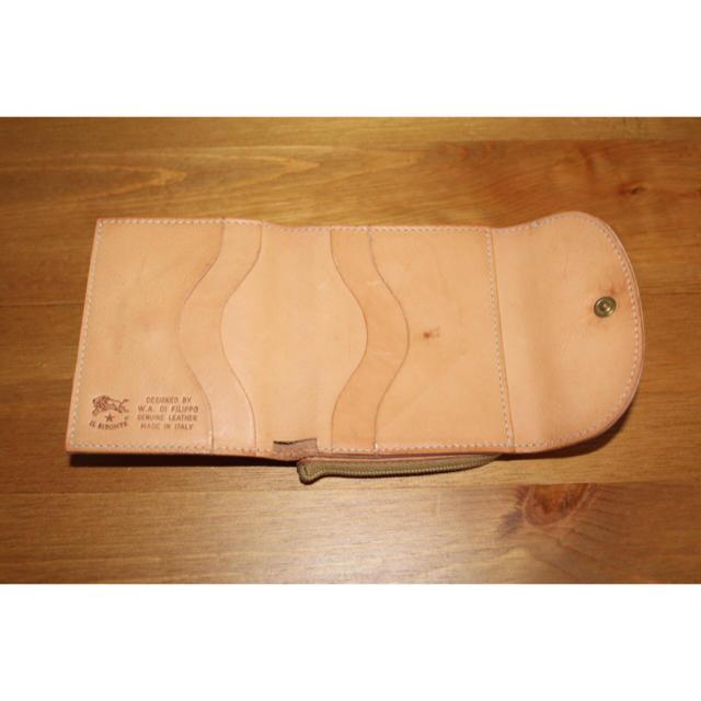 IL BISONTE(イルビゾンテ)のIL BISONTE イルビゾンテ 三つ折財布 ヌメ革 イタリア製 メンズのファッション小物(折り財布)の商品写真