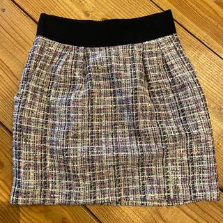 ロディスポット(LODISPOTTO)のロディスポット ツイードスカート 春 S(ミニスカート)