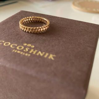 ココシュニック(COCOSHNIK)のCOCOSHNIK  K10 YG リング #8(リング(指輪))