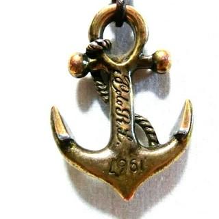 ラルフローレン(Ralph Lauren)のラルフローレン 革紐 皮紐  ネックレス アクセサリー  錨 イカリ チョーカー(ネックレス)