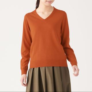ムジルシリョウヒン(MUJI (無印良品))の無印良品 ウールシルク洗えるVネックセーター(ニット/セーター)