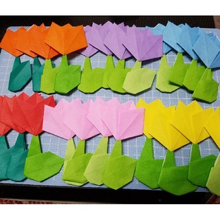折り紙 チューリップ(型紙/パターン)