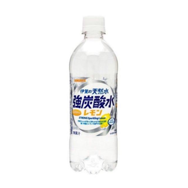 天然水 強炭酸水 炭酸水 レモン 500ml 48本 サンガリア 伊賀の天然水  食品/飲料/酒の飲料(ミネラルウォーター)の商品写真