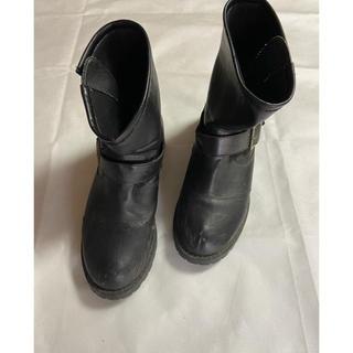 レディース ブーツ ブラック L ショートブーツ (ブーツ)