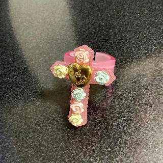 アンジェリックプリティー(Angelic Pretty)の美品 クロスリング ピンク(リング(指輪))