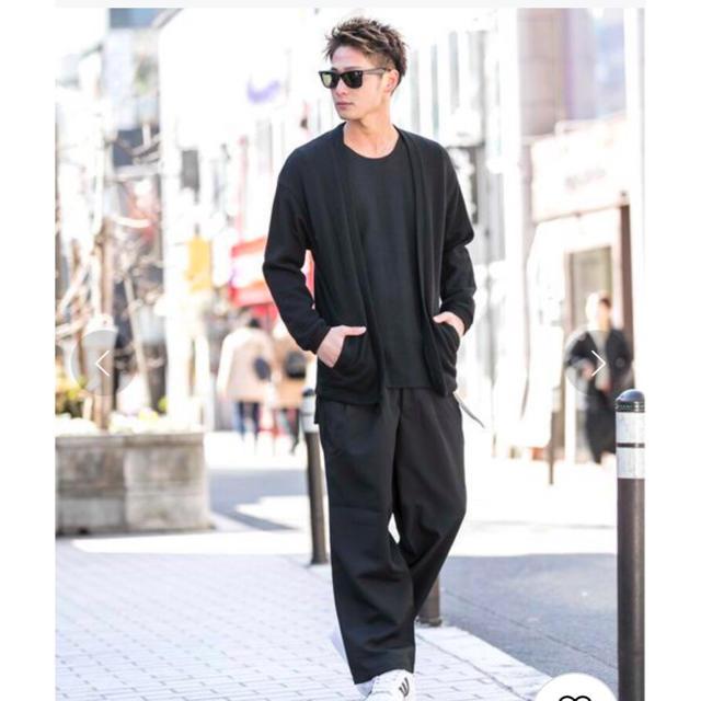 ATELIER SAB(アトリエサブ)の新品 アドミックス アトリエサブメン カーディガン 黒 ブラック 羽織り 上着 メンズのトップス(カーディガン)の商品写真