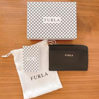 Furla - FURLA コインケース 黒 ミニ財布 カードケース 手のひらサイズ