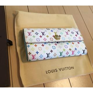 LOUIS VUITTON - 【美品】ルイヴィトン ポルトフォイユ・サラ マルチカラー 二つ折り 長財布