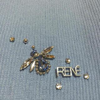 René - ルネ ハッピービー カーディガン 34 ブルー