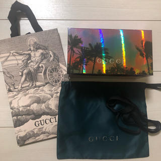 Gucci - グッチ レア商品☆ポーチ空箱 ショッパー リボン