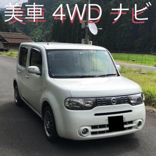 日産 - 美車 22年式 ニッサン キューブ 4WD 純正ナビ