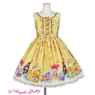 Angelic Pretty - Angelic Pretty Honey Cake ジャンパースカート イエロー