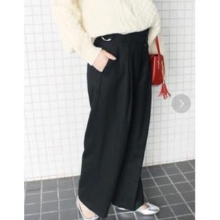 IENA SLOBE - スローブイエナ  ベルト 金具 カジュアルパンツ ウール パンツ 黒