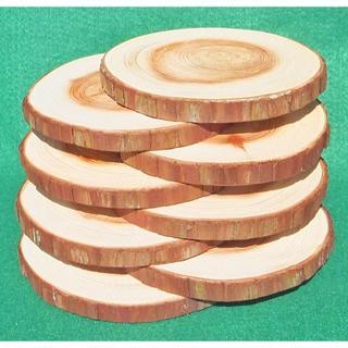★ヒノキの輪切りコースター(直径:約11cm、厚さ:約 1cm) 8個★