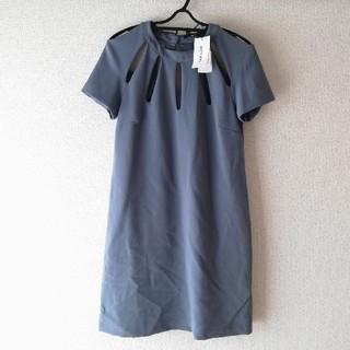 定価3万円以上 ワンピース ドレス パーティー ブルー(ひざ丈ワンピース)