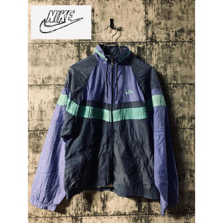 ナイキ(NIKE)の【廃盤】80s 90s 銀タグ NIKE ナイキ ナイロンジャケット 青紫(ナイロンジャケット)
