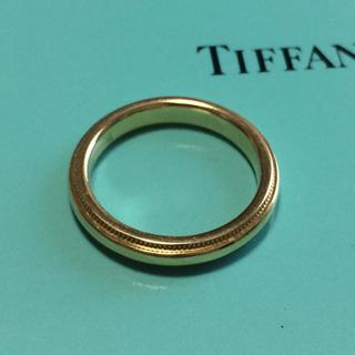 Tiffany & Co. - ティファニーミルグレインリングK18 750
